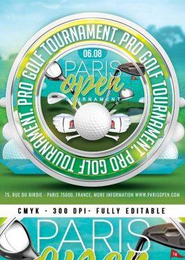 Golf Tournament Club Flyer Template
