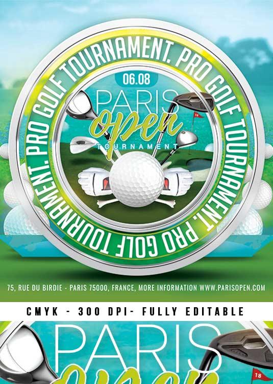 n2n44 graphic design golf tournament club flyer template n2n44