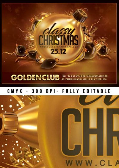 Classy Christmas Flyer Party Template download