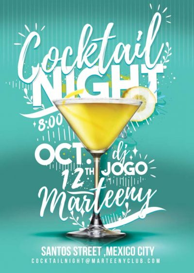 Cockatil Night Drink Flyer Template download