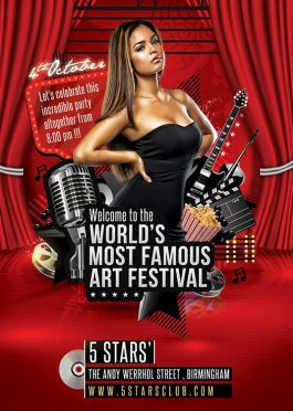 Music Movie Art Festival Flyer Template