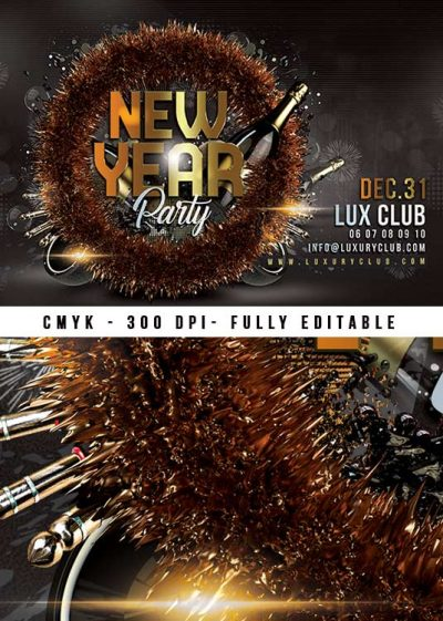 New Year Party Nye Flyer Template download