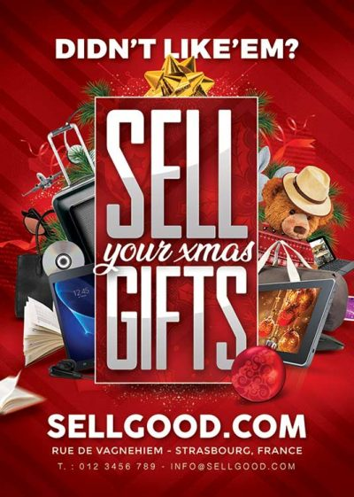 Sell Christmas Gifts Flyer Template download