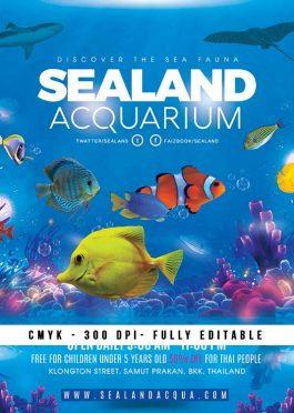 Aquarium Sea Land Flyer Template
