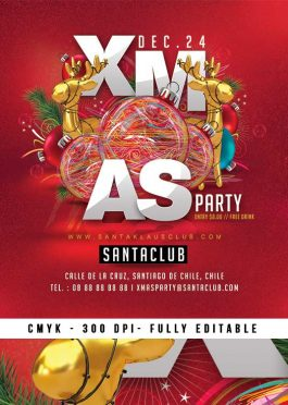 Fun Red Christmas Party Template