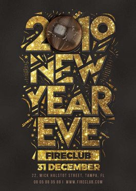 New Year Eve Special Flyer Template
