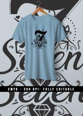 Seven Female Fashion T-Shirt Design