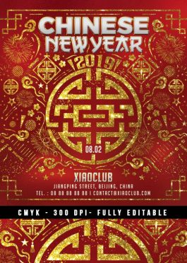 Squared Chinese New Year Flyer