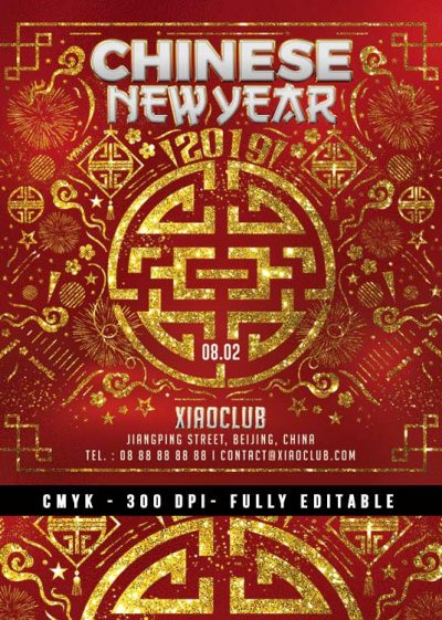 Squared Chinese New Year Flyer download