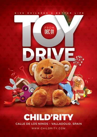 Toy Drive Christmas Flyer Template download