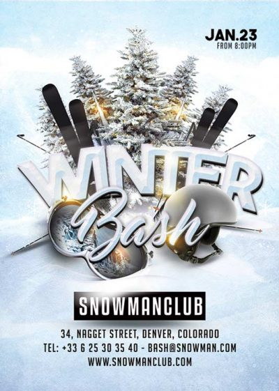 Winter Bash Club Flyer Template download