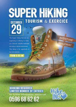 Hiking Trekking Travel Tour Flyer Template