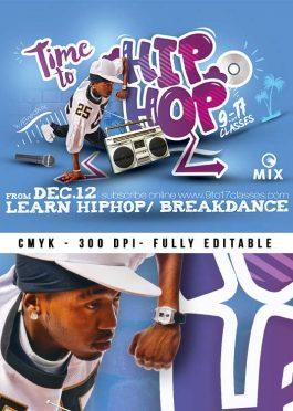 Hip Hop Lesson Session Flyer Template