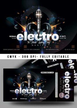 Special Electro DJ Mix Night Flyer bundle