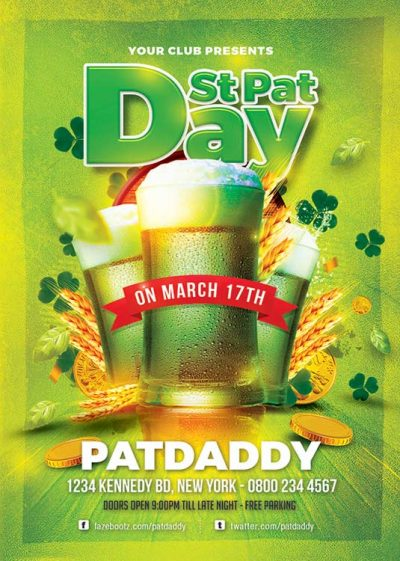 St Patrick Day Beer Fest Flyer Template download