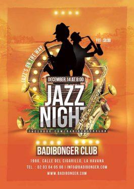 Tropical Jazz Music Nightclub Flyer Template