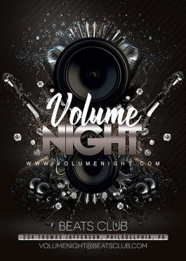 Beats Volume Night Club Flyer Template