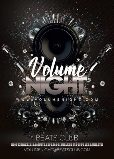 Beats Volume Night Club Flyer Template download