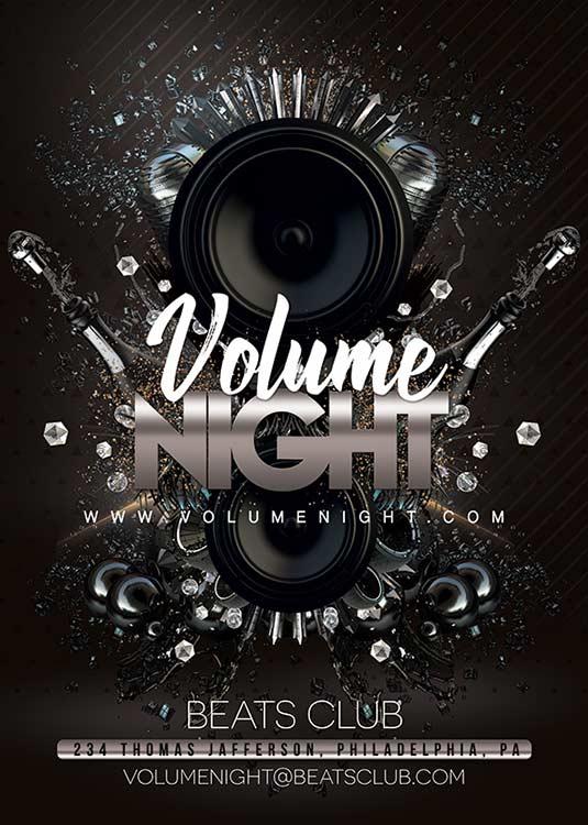 Beats Volume Night Club Flyer Template download