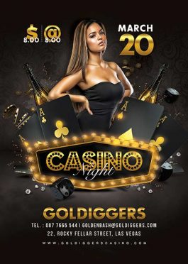 Classy Casino Night Party Flyer Template