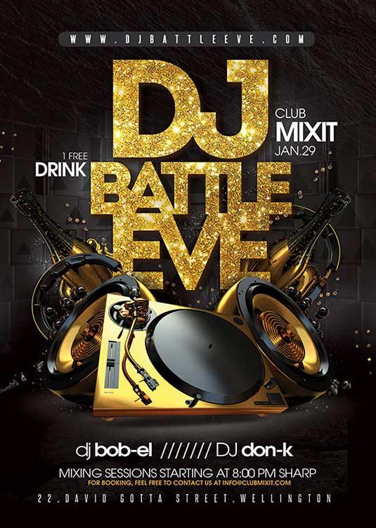 Dj Battle Mix Night Club Flyer Template download