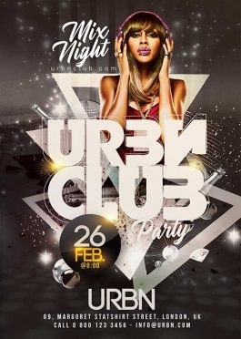 Urban Night Club Party Flyer Template