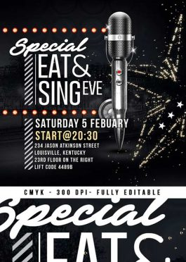 Special Eat Sing Diner Eve Club  Flyer Template