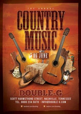 Country Music Night Usa Western Flyer Template