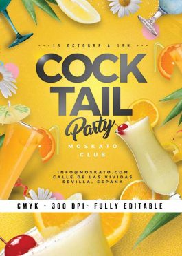 Summer Seasonal Cocktail Party Flyer Template