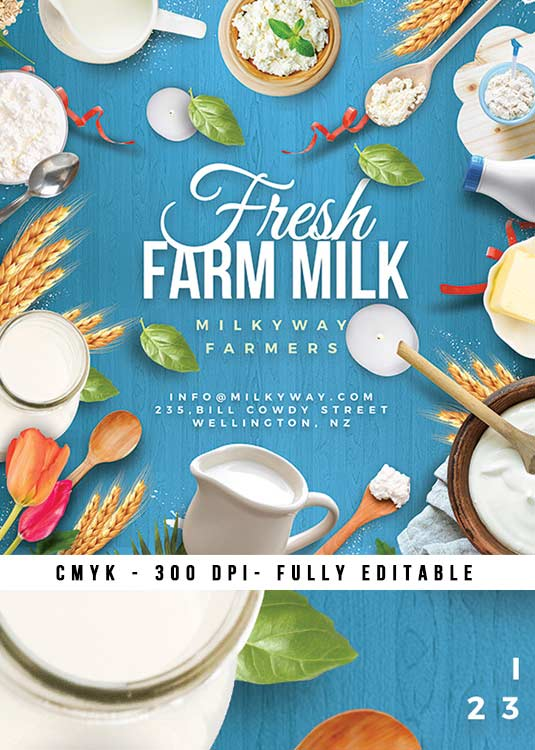 Artisanal Fresh Dairy Farm Product Flyer Template download