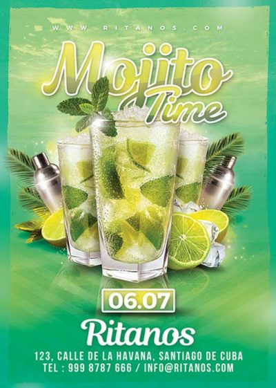 Mojito Time Club Party Flyer Template download
