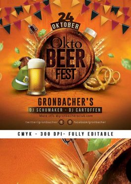 German Oktober Fest Beer Festival Flyer Template