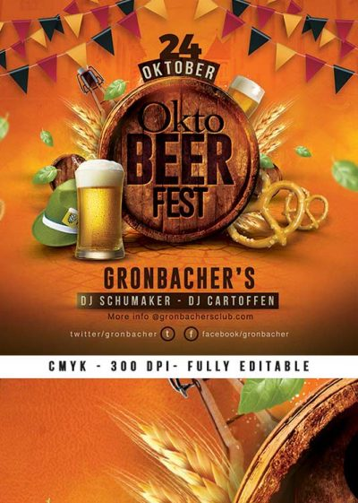 German Oktober Fest Beer Festival Flyer Template download