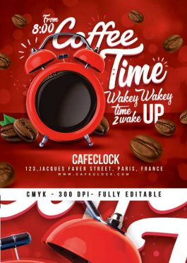 Coffee Time Business Promotion Flyer Template