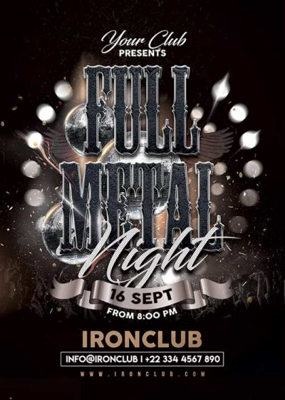 Full Heavy Metal Music Concert Flyer Template download