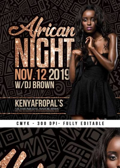 Special African Club Night Themed Flyer Template download