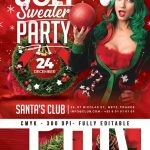 Ugly Sweater New Year Or Christmas Flyer Template download