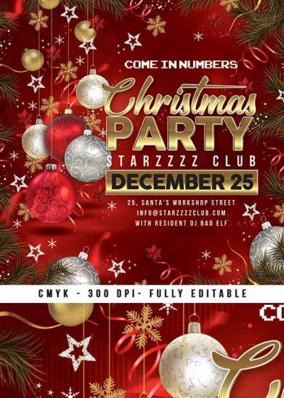Christmas Card Xmas Market And Party Flyer Template download