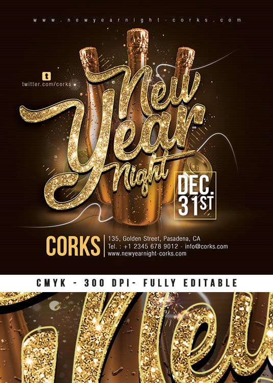 New Year Countdown Nye Flyer Template download