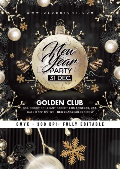 Nye Night Club Party New Year Flyer Template download