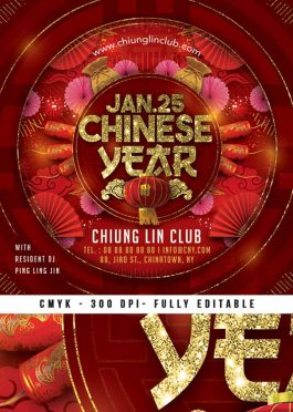 Celebration of Chinese New Year  Flyer Template