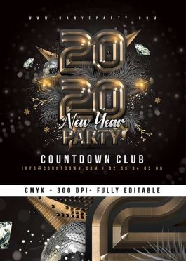New Year Nightclub Party –  Nye Flyer Template