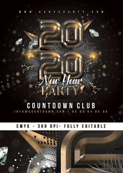 New Year Nightclub Party - Nye Flyer Template download