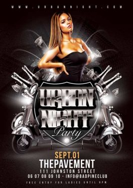 Urban Night Club City Party Flyer Template