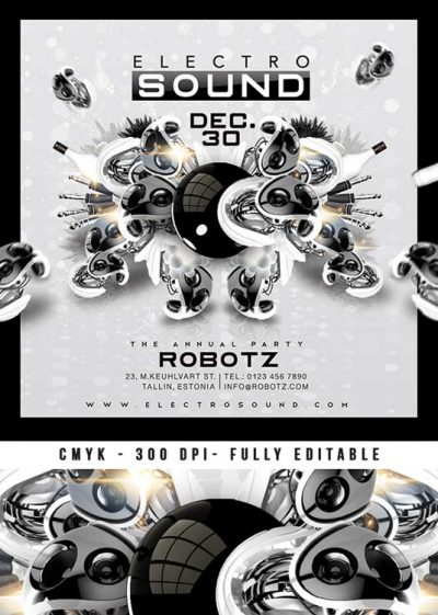 Electro Sound Party Club Flyer Or CD Cover Template download
