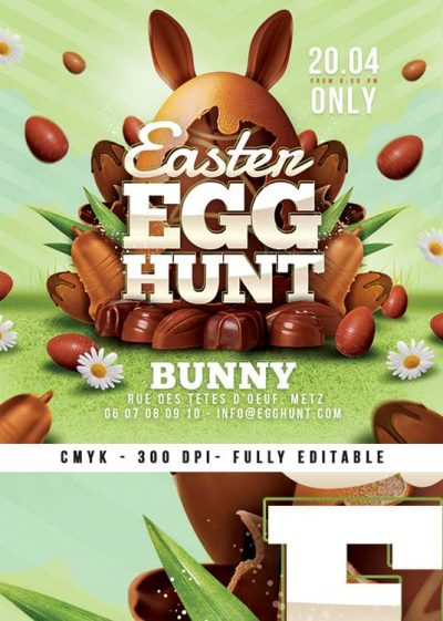 Special Holiday Easter Egg Hunt Child Flyer Template download