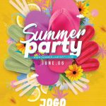 Beach Seasonal Summer Party Flyer Template download