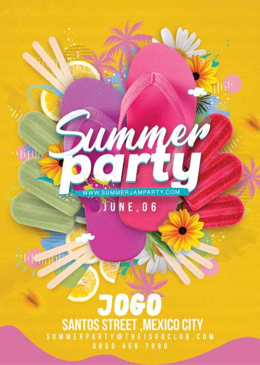 Beach Seasonal Summer Party Flyer Template download