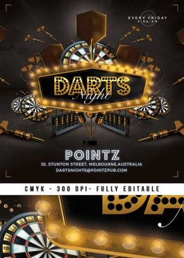Special Darts Pub Night Flyer Or Club Flyer Template