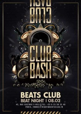 Black And Golden Night Club Bash Flyer Template